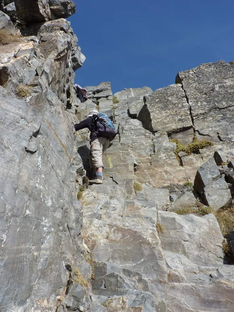 Ascension cheminee Canigou