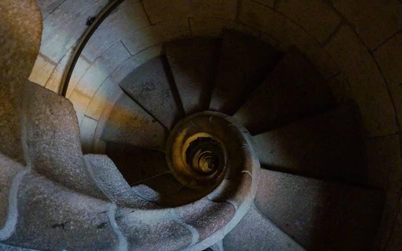 Escalier dans la Sagrada Familia