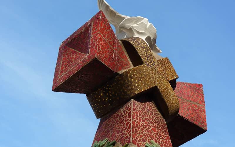 Une des flèches de la Sagrada Familia
