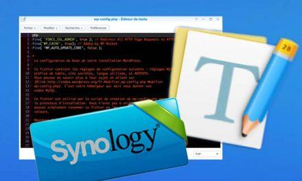 Avec Text Editor, l'édition facile sur NAS Synology