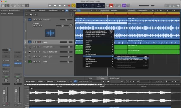 Séparer un piste stéréo en deux pistes mono pour Logic Pro X